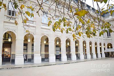 Paris Palais Royal Columns - Paris Winter White Palais Royal Architecture Print by Kathy Fornal