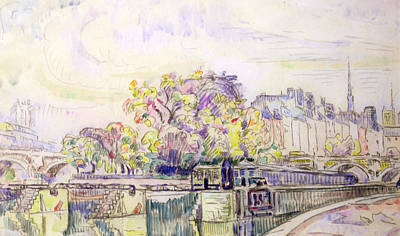 Pauls Drawing - Paris by Paul Signac