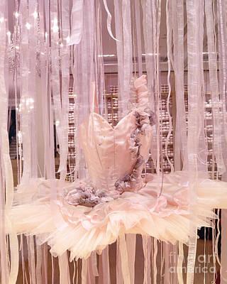Ballet Photograph - Paris Repetto Pink Ballerina Tutu Window Display - Parisian Fashion Ballerina Dress by Kathy Fornal
