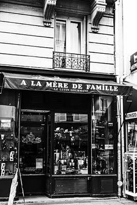 Paris Store Front Print by Georgia Fowler