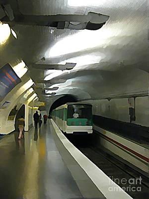Paris Subway  Print by John Malone