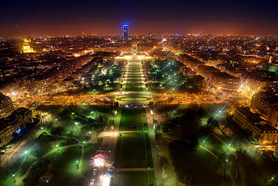 Airscape Photograph - Paris View From The Eiffel Tour by Nicolae Feraru