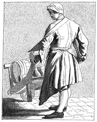 Paris Vinegar Seller, C1740 Print by Granger