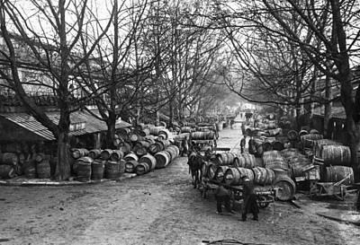Wine Cart Photograph - Paris Wine Market, C1900 by Granger