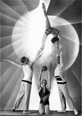 Troupe Photograph - Parisian Acrobats by Underwood Archives