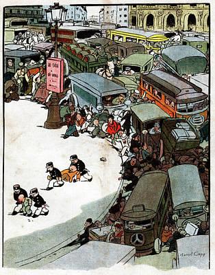 Parisian Traffic Print by Cci Archives