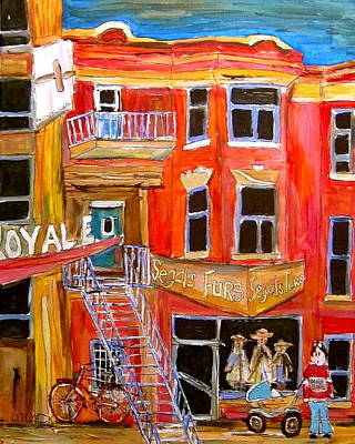 Litvack Painting - Park Avenue Montreal by Michael Litvack