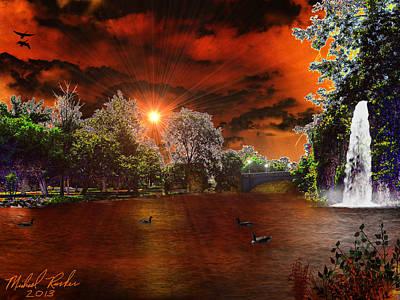Park Canal Original by Michael Rucker