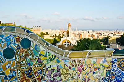 Contemporary Ceramics Photograph - Park Guell Barcelona by Mesha Zelkovich