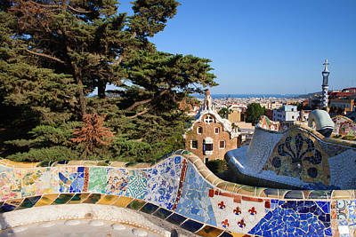Ceramics Photograph - Park Guell In Barcelona by Artur Bogacki