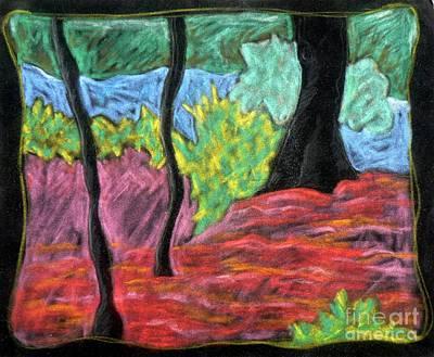Park Landscape Print by Elizabeth Fontaine-Barr