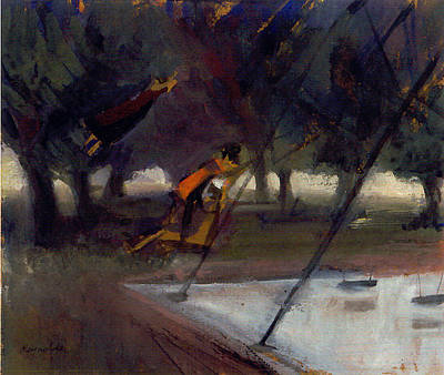Park Swings Print by Ted Reynolds