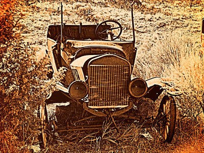 Old West Photograph - Parked 2 by Leland D Howard