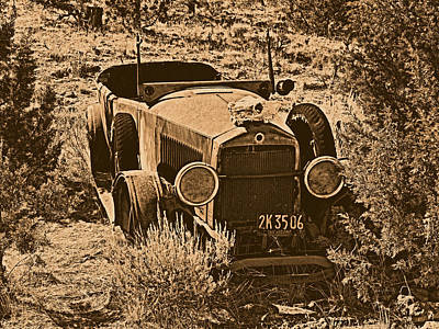 Old West Photograph - Parked by Leland D Howard