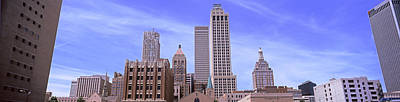 Parking Lot At Downtown Tulsa Print by Panoramic Images
