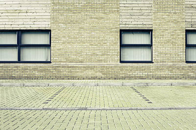 Brick Buildings Photograph - Parking Space by Tom Gowanlock