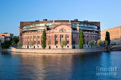 Castle Photograph - Parliament Building In Stockholm by Michal Bednarek