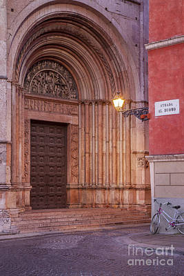 Parma Baptistery Doorway Print by Brian Jannsen