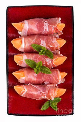 Cantaloupe Photograph - Parma Ham And Melon by Jane Rix