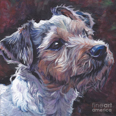 Jack Russell Painting - Parson Russell Terrier by Lee Ann Shepard