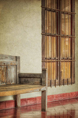 Benches Photograph - Part Of A Bench by Joan Carroll