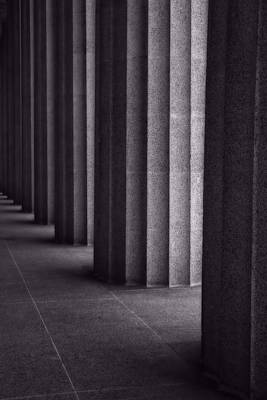 Black And White Columns Print by Dan Sproul