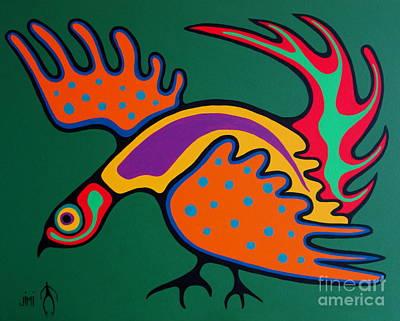 Partridge Painting - Partridge by Jim Oskineegish