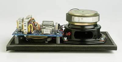Parts Of A Loudspeaker Print by Dorling Kindersley/uig