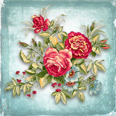 Holidays Digital Art - Party Of Flowers  by Mark Ashkenazi