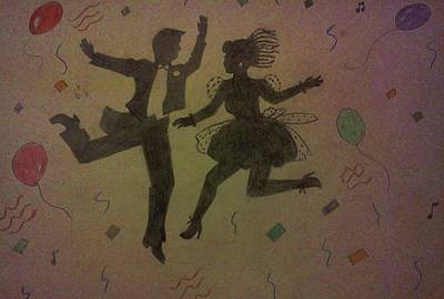 Party Silhouettes Print by Christy Saunders Church