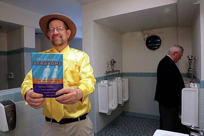 Urinal Photograph - Paruresis Self Help Book by Thierry Berrod, Mona Lisa Production