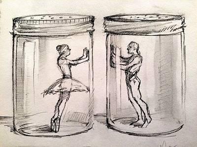 Pas De Deux Print by H James Hoff