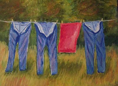 Pa's Trousers Print by Belinda Lawson
