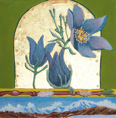 Pasque Flower In The Spring Print by Amy Reisland-Speer