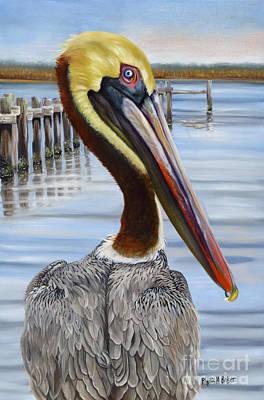 Pass Christian Pelican Print by Phyllis Beiser