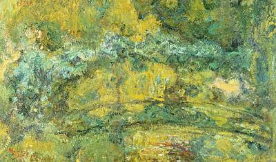 Passage On Waterlily Pond Print by Claude Monet