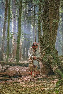 Huron Indian Digital Art - Passing Through Cook Forest by Randy Steele