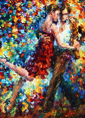 Dancing Girl Painting - Passion Dancing by Leonid Afremov
