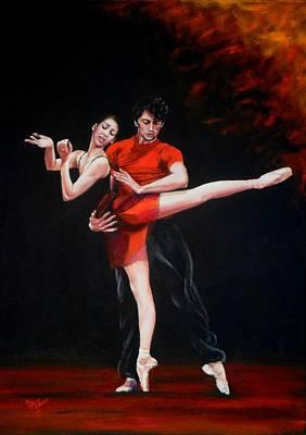 Passion In Red Print by Maren Jeskanen