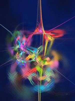Passion Nectar - Circling The Flower Of Paradise Print by Menega Sabidussi