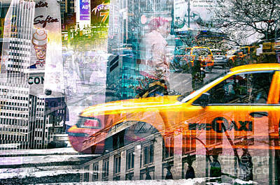 Passion Nyc Around Bryant Park Print by Sabine Jacobs