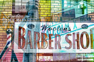 Harlem Digital Art - Passion Nyc Harlem Barber Shop by Sabine Jacobs