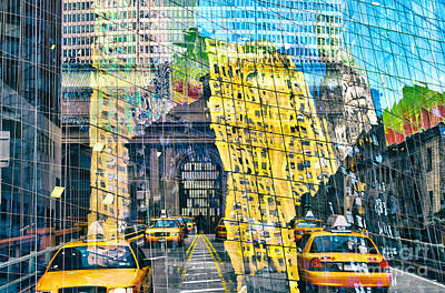 Passion Nyc Yellow Cab Print by Sabine Jacobs