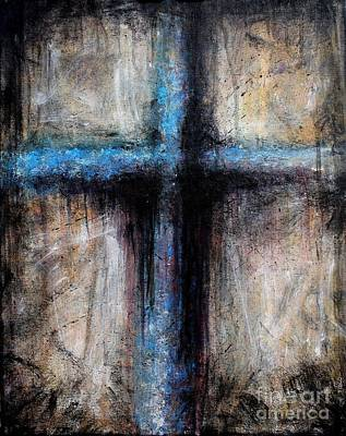 Passion Of The Cross Print by Mike Grubb
