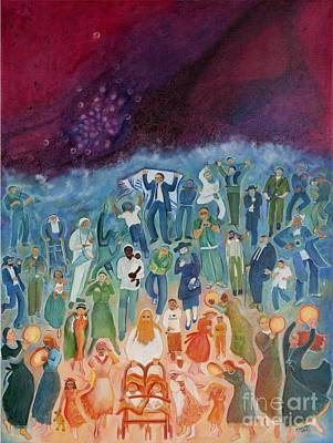 Painting - Passover Not Only Our Fathers by Chana Helen Rosenberg