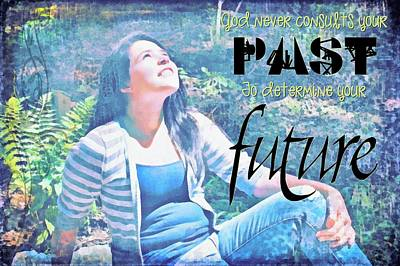 Past And Future Print by Michelle Greene Wheeler