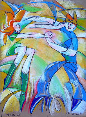 Redhead Mixed Media - Pastel 73 - Dance by Steve Emery