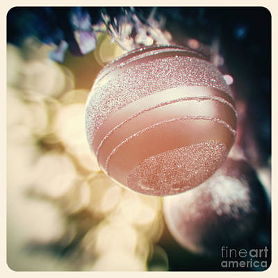 Instant Photograph - Pastel Christmas Baubles by Jane Rix