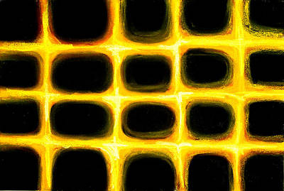 Pastel Golden Grid Pattern Print by Kazuya Akimoto