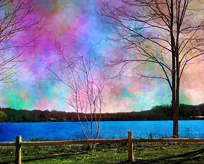 Beaver Painting - Pastel Skies by Robin Mead